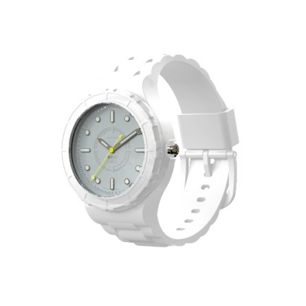 Montre modulable cadran blanc bracelet blanc