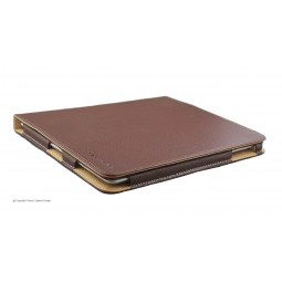Etui IPAD en cuir marron Laurige
