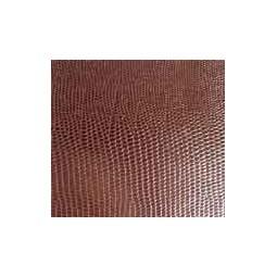 Portefeuille à zip en cuir marron