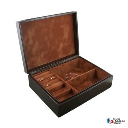 Coffret à bijoux Lézard chocolat