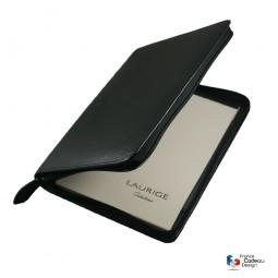 Conférencier porte-document A5 en cuir noir