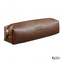 TROUSSE CARREE EN CUIR MARRON LAURIGE