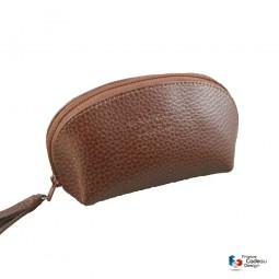 Porte-monnaie en cuir marron Laurige