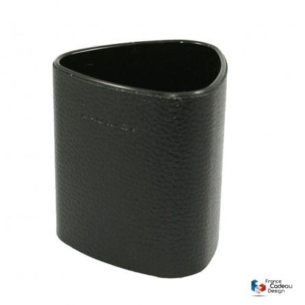 Pot à crayons triangulaire noir