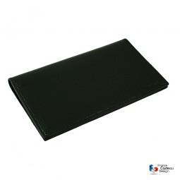 Porte chéquier portefeuille en cuir noir