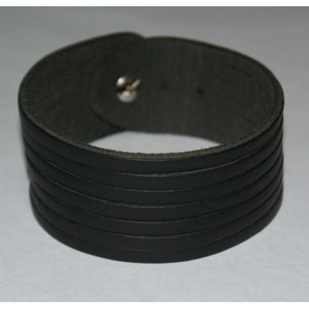 Duo bracelets cuir noir et marron